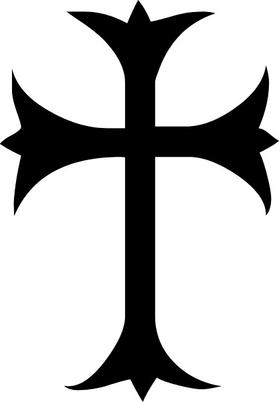Christian Cross Decal / Sticker 47