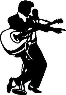 Elvis Decal / Sticker 04