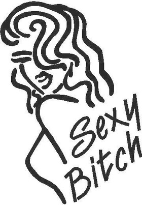Sexy Bitch Decal / Sticker 01