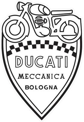 Ducati Shield Decal / Sticker 28