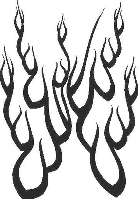 Flames Decal / Sticker 34