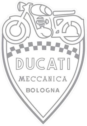 Ducati Shield Decal / Sticker 47