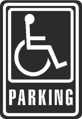 Handicapped Sign Decal / Sticker 03