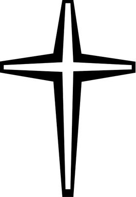 Christian Cross Decal / Sticker 17