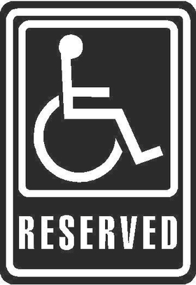 Handicapped Sign Decal / Sticker 01