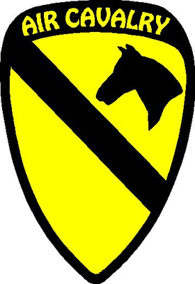 First Cavalry Division Decal / Sticker 03