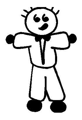 Tuxedo Guy Stick Figure Decal / Sticker 02
