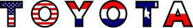 American Holland / Dutch / The Netherlands Texas Flag Toyota Decal / Sticker 04