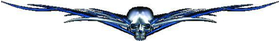 Blue Skull Tribal Decal / Sticker L3