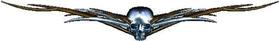 Bronze Skull Tribal Decal / Sticker L5