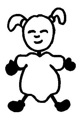 Baby Girl Stick Figure Decal / Sticker