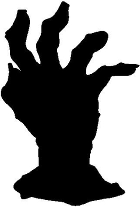 ' Zombie Hand Decal / Sticker 02