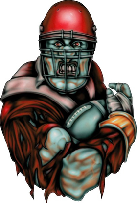 Red Football Player Decal / Sticker 04