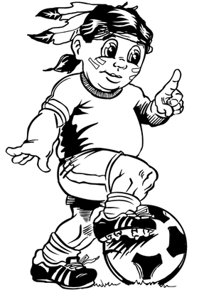 Soccer Braves / Indians / Chiefs Mascot Decal / Sticker sr4