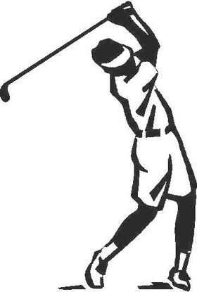 Golfer Golf Decal / Sticker 18