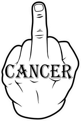 Fuck Cancer Decal / Sticker 01
