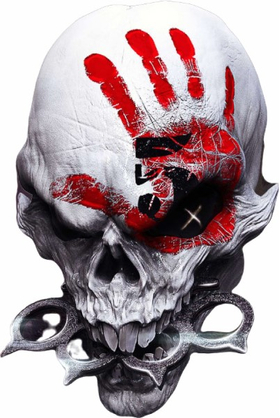 Five Finger Death Punch Skull Decal / Sticker 01