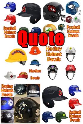 Helmet Decal / Sticker Quote