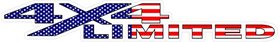 Z RAM American Flag 4x4 Limited Decal / Sticker 04