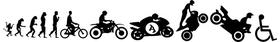 Motorcycle Evolution Decal / Sticker 01
