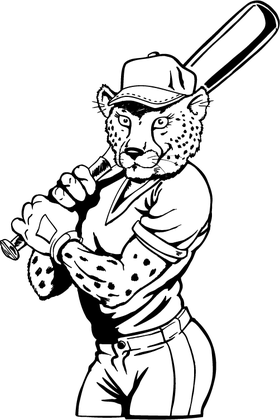Cheetahs Softball Mascot Decal / Sticker