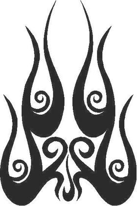 Flames Decal / Sticker 36