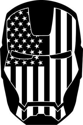Iron Man American Flag Decal / Sticker 21