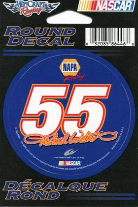 55 Michael Waltrip Decal / Sticker