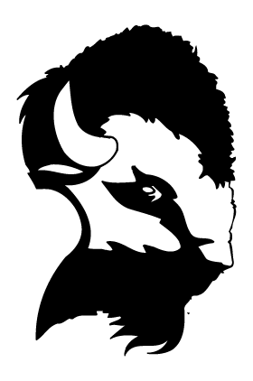 Buffalo Head Mascot Decal / Sticker