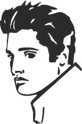 Elvis Decal / Sticker 03