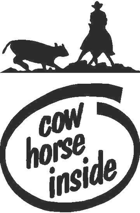 Cow Horse Inside Decal / Sticker