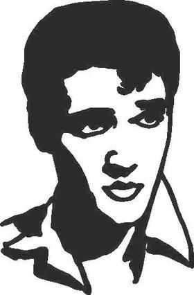 Elvis Decal / Sticker 06