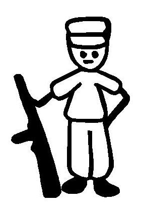 Hunter Stick Figure Decal / Sticker 01