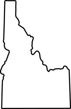 Idaho Decal / Sticker 02