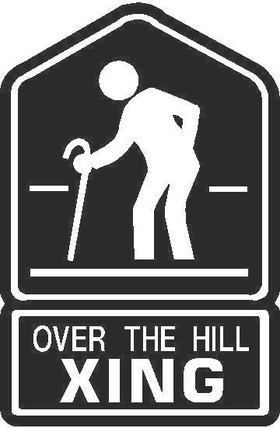 Over the Hill XING Decal / Sticker