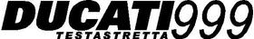 Ducati 999 Testastretta Decal / Sticker