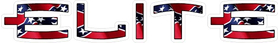 Elite Archery Confederate Flag Decal / Sticker 03