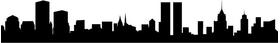 New York Skyline Silhouette Decal / Sticker 11