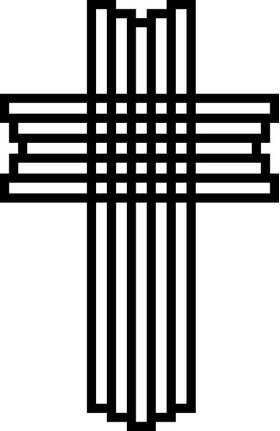 Christian Cross Decal / Sticker 75