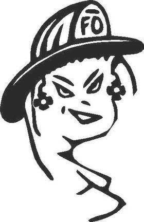 Fire Girl Decal / Sticker 02