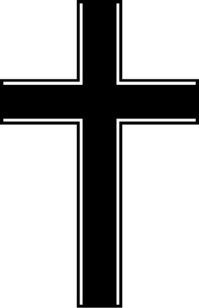 Christian Cross Decal / Sticker 59