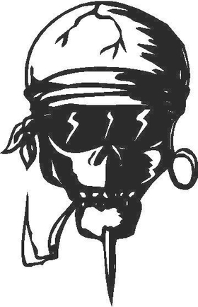 Skull Decal / Sticker 2A