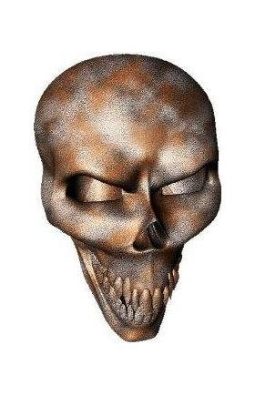 3D Rusted Skull Decal / Sticker