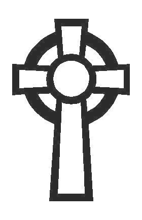 Celtic Cross Decal / Sticker 03