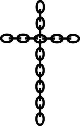 Chain Cross Decal / Sticker 91