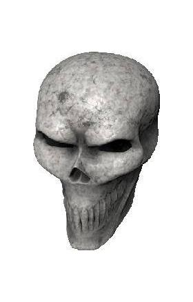 3D Bone Skull 01 Decal / Sticker