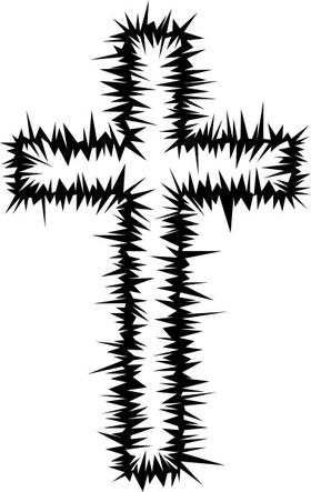 Christian Cross Decal / Sticker 31
