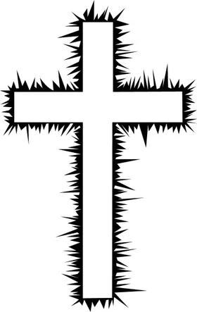 Christian Cross Decal / Sticker 32