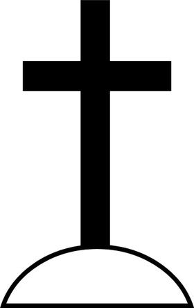 Christian Cross Decal / Sticker 48