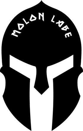 Spartan Helmet / Mask Molon Labe Decal / Sticker 15